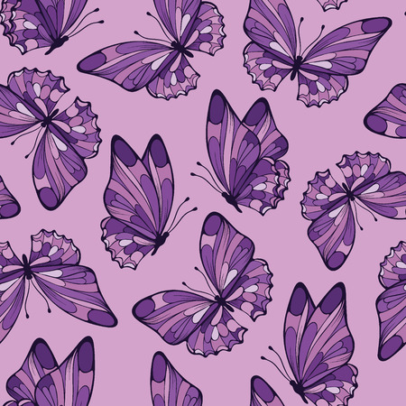 Seamless pattern with butterfly Vector