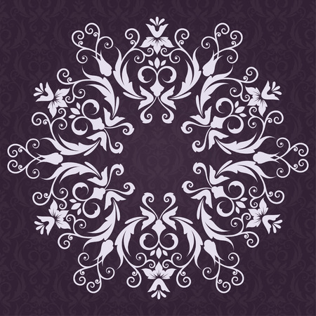 floral background: Lace Invitation card with abstract floral background.