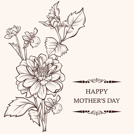 Mothers day card design vector illustration bouquet of flowers mothers day card design vector illustration bouquet of flowers with butterfly element for maxwellsz
