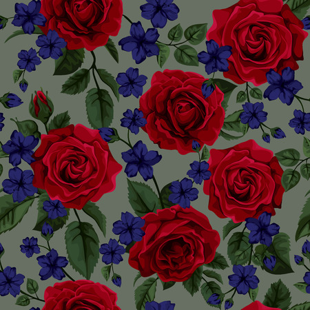 장미와 원활한 패턴