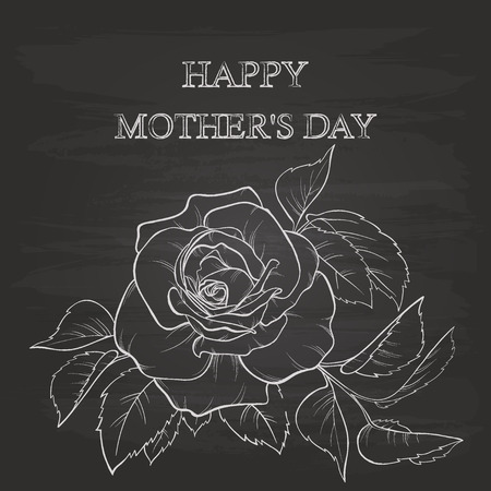 mothers day background: Mothers Day Background With Chalk On Blackboard