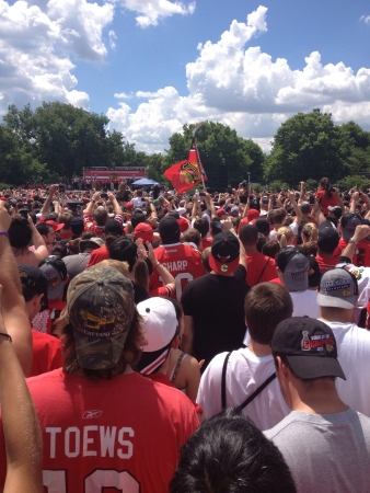 Blackhawks Stanley Cup Rally at Grant Park Chicago.