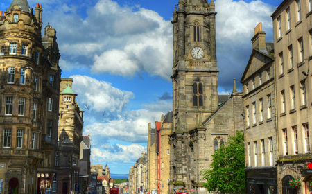 Royal Mile in Edinburgh, Scotland. Stock Photo