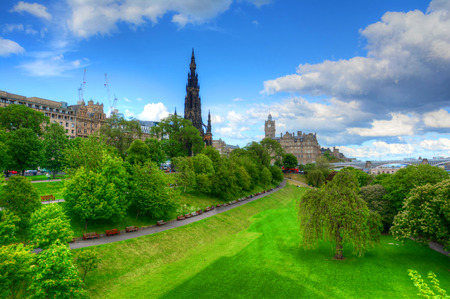 Princes Street Gardens in Edinburgh, Scotland. Stock Photo