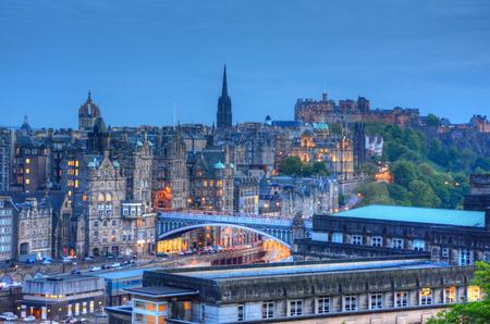 princes street: View of Edinburgh, Scotland, UK.