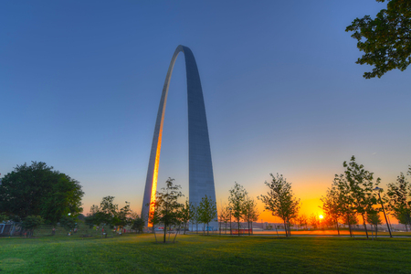 The Gateway Arch in St. Louis, Missouri. Stock fotó - 80508163