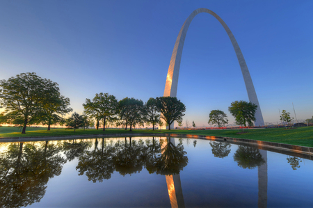 The Gateway Arch in St. Louis, Missouri.