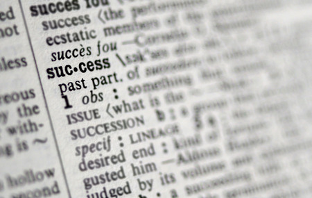 Success in the dictionary.