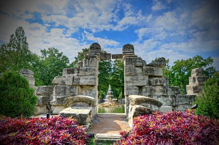 미주리 주 세인트 루이스의 타워 그 로브 파크 스톡 콘텐츠