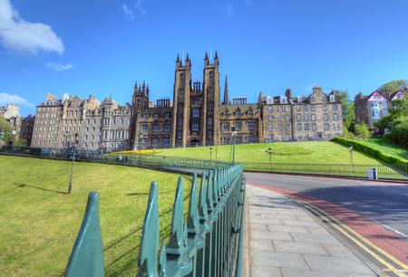 princes street: University of Edinburgh in Edinburgh, Scotland.
