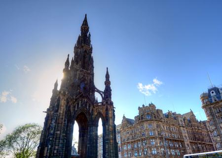 Scott Monument in Edinburgh, Scotland. Stock Photo