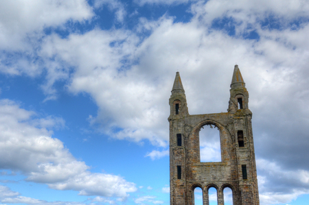 Ruins of St. Andrews Cathedral in St. Andrews, Scotland.