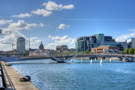 leinster: The Custom House across the River Liffey in Dublin, Ireland.