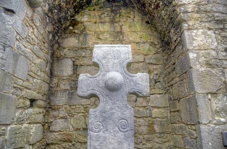 Croci Celtiche a Kilfenora, Irlanda. Archivio Fotografico - 80652982