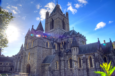 더블린, 아일랜드에서 그리스도 교회 성당입니다. 스톡 콘텐츠