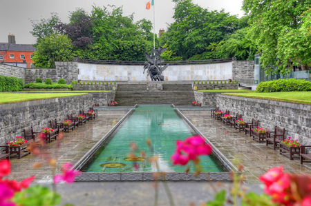 Dublin, Ireland - May 30, 2017: The Garden of Remembrance The Garden of Remembrance is a memorial garden in Dublin dedicated to the memory of