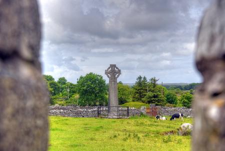 Croci Celtiche a Kilfenora, Irlanda. Archivio Fotografico - 80620665