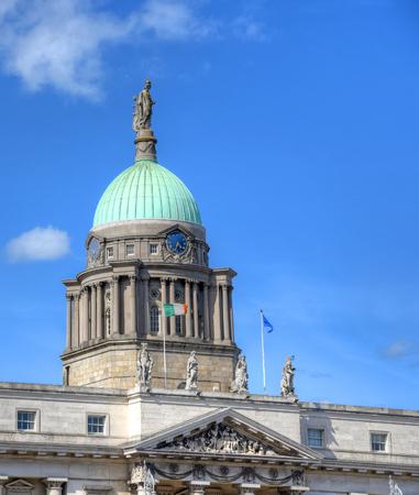 irish culture: The Custom House across the River Liffey in Dublin, Ireland.