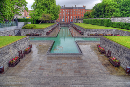 leinster: Dublin, Ireland - May 30, 2017: The Garden of Remembrance The Garden of Remembrance is a memorial garden in Dublin dedicated to the memory of all those who gave their lives in the cause of Irish Freedom.