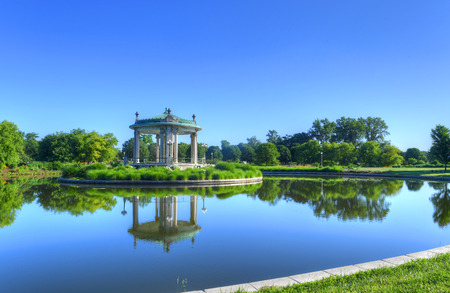 The Forest Park bandstand in St. Louis, Missouri. Stock Photo - 81111284