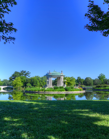 The Forest Park bandstand in St. Louis, Missouri. 版權商用圖片