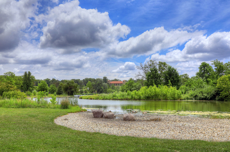 american midwest: Forest Park in St. Louis, Missouri. Editorial