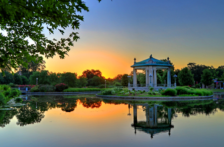 The bandstand in Forest Park, St. Louis, Missouri.