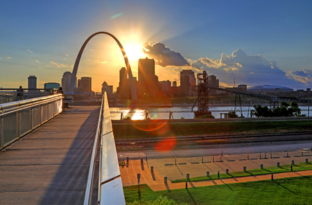 St. Louis, Missouri skyline from Malcolm W. Martin Memorial Park.