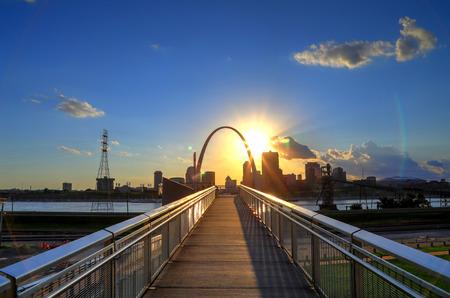 St. Louis, Missouri skyline from Malcolm W. Martin Memorial Park.