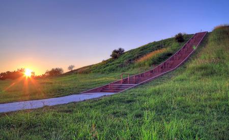Cahokia Mounds in Collinsville, Illinois