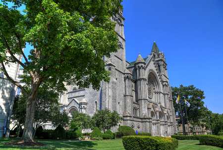 St. Louis, Missouri, USA - August 18, 2017: The Cathedral Basilica of Saint Louis on Lindell Boulevard in St. Louis, Missouri.