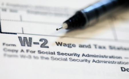 Amerikaanse belastingformulieren voor de IRS.