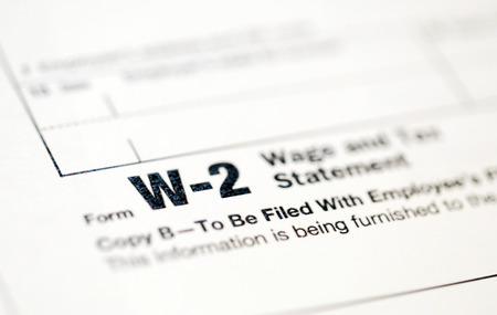 IRS의 미국 세금 양식.