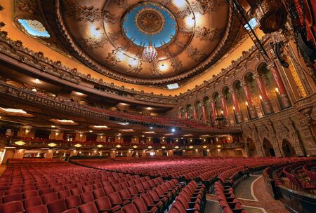 St. Louis, Missouri, USA - November 18, 2016 - The Fabulous Fox Theatre on Grand Boulevard in the Grand Center arts district of midtown St Louis.