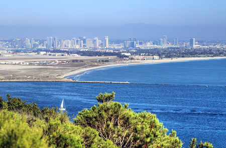 View of San Diego, California from the Cabrillo National Monument at Point Loma.