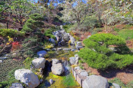 San Diego, California, USA - February 9, 2018:  Japanese Friendship Garden at the Balboa Park located in San Diego.