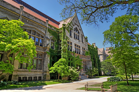 Chicago, Illinois, USA - June 23, 2018  - The University of Chicago, located in the Hyde Park neighborhood. Редакционное