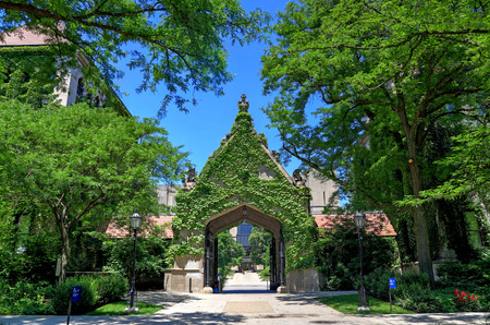 Chicago, Illinois, USA - June 23, 2018  - The University of Chicago, located in the Hyde Park neighborhood. Editorial