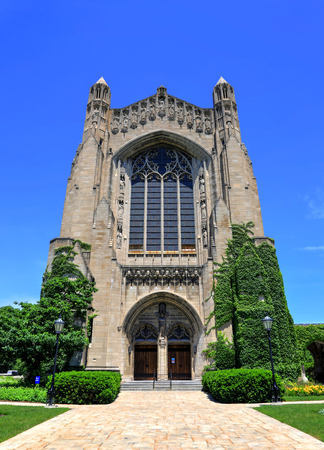 Chicago, Illinois, USA - June 23, 2018  - The University of Chicago, located in the Hyde Park neighborhood. Editöryel