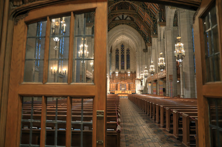 Chicago, Illinois, USA - June 22nd, 2018. The Fourth Presbyterian in downtown Chicago.