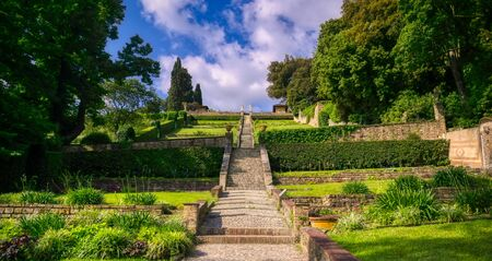 A view of the Bardini Gardens in Florence, Italy. Standard-Bild - 126038212