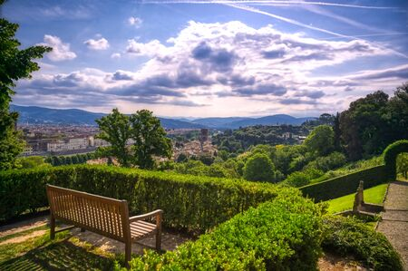 A view of the Bardini Gardens in Florence, Italy. Standard-Bild - 126038214