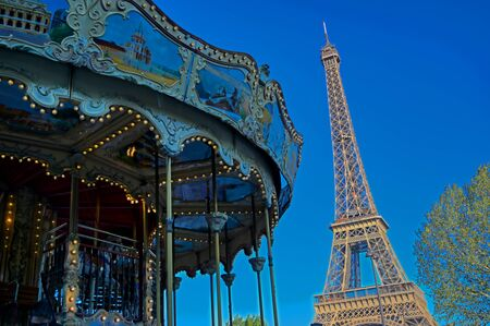 A view of the Eiffel Tower in Paris, France.
