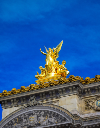 Paris, France - April 21, 2019 - The Palais Garnier is a 1,979-seat opera house, which was built from 1861 to 1875 for the Paris Opera in central Paris, France. Redactioneel