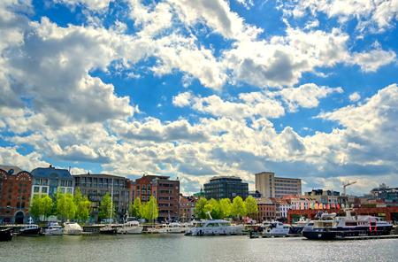 City scenes around the Port of Antwerp in Antwerp, Belgium.