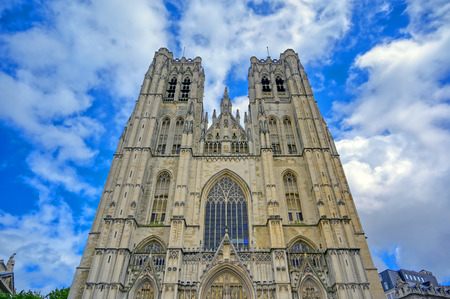 The Cathedral of St. Michael and St. Gudula is a Roman Catholic church in Brussels, Belgium. Banque d'images - 128466911