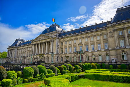 The Royal Palace of Brussels is the official palace of the King and Queen of the Belgians in the center of the nation's capital of Brussels, Belgium. 新聞圖片