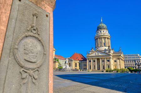 The churches located in Gendarmenmarkt square in Berlin, Germany.