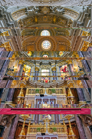 Berlin, Germany - May 4, 2019 - The interior of Berlin Cathedral located on Museum Island in the Mitte borough of Berlin, Germany. Banque d'images - 129491701