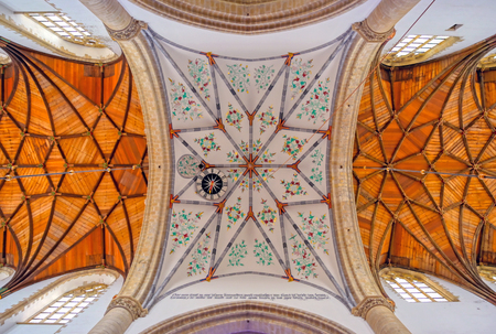 Haarlem, Netherlands - April 30, 2019 - The interior of the St. Bavo Church in the Dutch city of Haarlem, the Netherlands. Banque d'images - 129491719